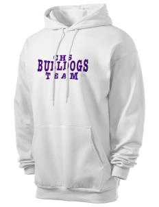 Chetek High School Bulldogs Men's 7.8 oz Lightweight Hooded Sweatshirt