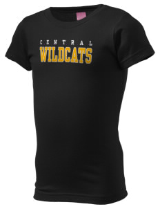 Central Middle School Wildcats  Girl's Fine Jersey Longer Length T-Shirt