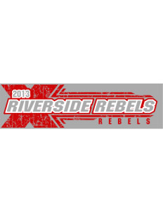 "Riverside High School Rebels Bumper Sticker 11"" x 3"""