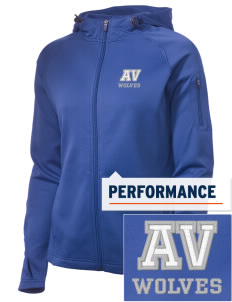 Alta Vista Elementary School Wolves Embroidered Women's Tech Fleece Full-Zip Hooded Jacket