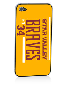 Star Valley High School Braves Apple iPhone 4/4S Skin