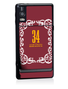 Star Valley High School Braves Motorola Droid 2 Skin
