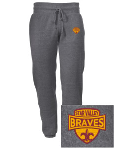 Star Valley High School Braves Embroidered Alternative Men's 6.4 oz Costanza Gym Pant