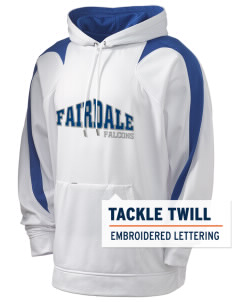 Fairdale Elementary School Falcons Holloway Men's Sports Fleece Hooded Sweatshirt with Tackle Twill