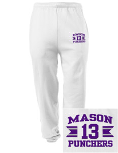 Mason High School Punchers Embroidered Men's Sweatpants with Pockets
