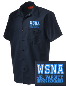 Washington State Nurses Association Embroidered Men's Cornerstone Industrial Short Sleeve Work Shirt