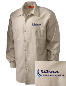 Washington State Nurses Association Embroidered Men's Industrial Work Shirt - Regular
