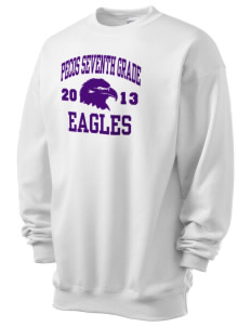 Pecos Seventh Grade School Eagles Men's 7.8 oz Lightweight Crewneck Sweatshirt