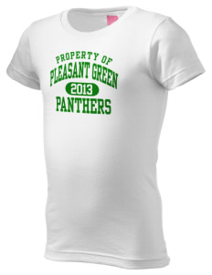 Pleasant Green Elementary School Panthers  Girl's Fine Jersey Longer Length T-Shirt