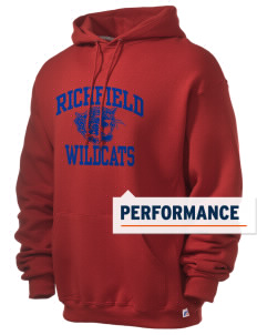 Richfield High School Wildcats Russell Men's Dri-Power Hooded Sweatshirt