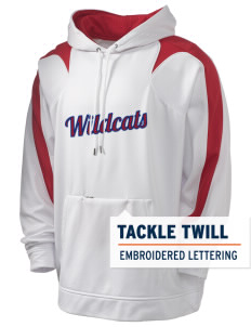 Richfield High School Wildcats Holloway Men's Sports Fleece Hooded Sweatshirt with Tackle Twill