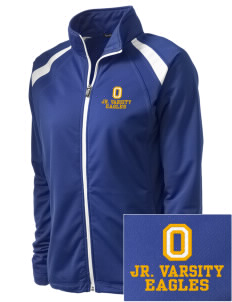 Orchard Elementary School Eagles Embroidered Women's Tricot Track Jacket