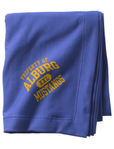 Alburg Community Education Center Mustangs  Sweatshirt Blanket