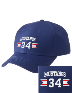 Charleston Elementary School Mustangs  Embroidered New Era Adjustable Structured Cap
