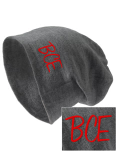 Barre City Elementary Middle School Bulldogs Embroidered Slouch Beanie