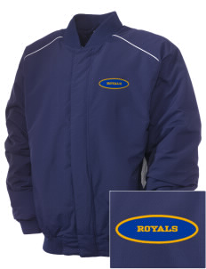 South Royalton Elementary And High Royals Embroidered Russell Men's Baseball Jacket