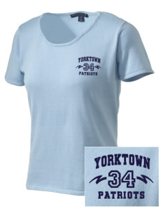 Yorktown High School Patriots Embroidered Women's Fine-Gauge Scoop Neck Sweater