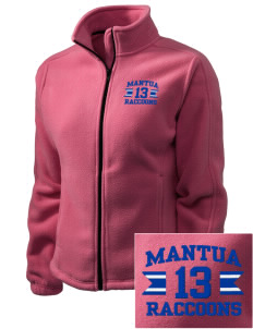 Mantua Elementary School Raccoons Embroidered Women's Fleece Full-Zip Jacket