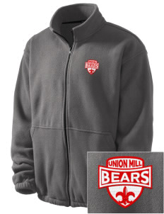 Union Mill Elementary School Bears Embroidered Men's Fleece Jacket