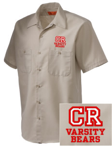 Cub Run Elementary School Bears Embroidered Men's Cornerstone Industrial Short Sleeve Work Shirt