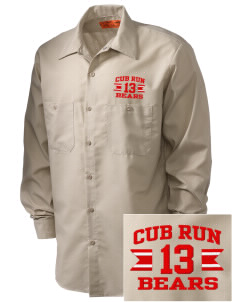 Cub Run Elementary School Bears Embroidered Men's Industrial Work Shirt - Regular