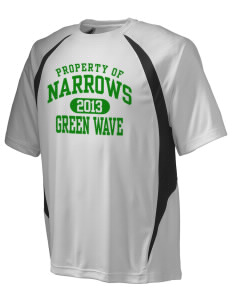 Narrows High School Green Wave Champion Men's Double Dry Elevation T-Shirt