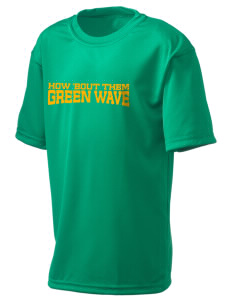 Narrows High School Green Wave  Holloway Kid's Zoom Performance T-Shirt