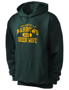Narrows High School Green Wave Champion Men's Hooded Sweatshirt