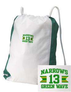 Narrows High School Green Wave Embroidered Holloway Home and Away Cinch Bag