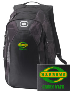 Narrows High School Green Wave Embroidered OGIO Marshall Backpack