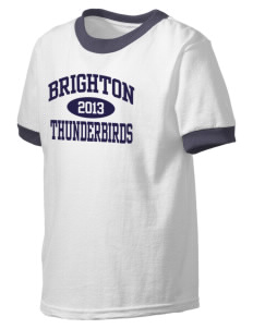 Brighton Elementary School Thunderbirds Kid's Ringer T-Shirt