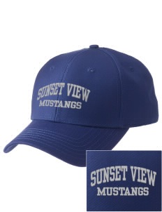 Sunset View Elementary School Mustangs  Embroidered New Era Adjustable Structured Cap