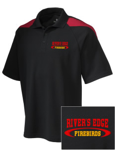 River's Edge High School Firebirds Embroidered Holloway Men's Frequency Performance Pique Polo
