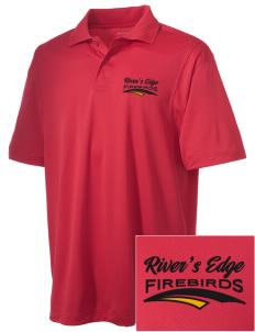 River's Edge High School Firebirds Embroidered Men's Micro Pique Polo
