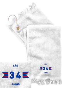 Lee Elementary School Lions  Embroidered Grommeted Finger Tip Towel