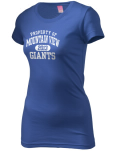 Mountain View Elementary School Giants  Juniors' Fine Jersey Longer Length T-Shirt
