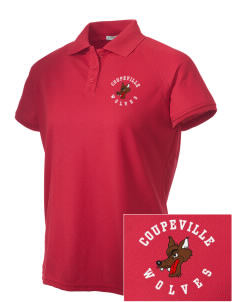 Coupeville High School Wolves Embroidered Women's Technical Performance Polo