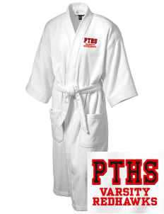 Port Townsend Senior High School Redskins Embroidered Terry Velour Robe