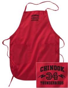 Chinook Middle School Thunderbirds Embroidered Full Length Apron