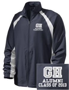 Gregory Heights Elementary School Huskies  Embroidered Men's Full Zip Warm Up Jacket