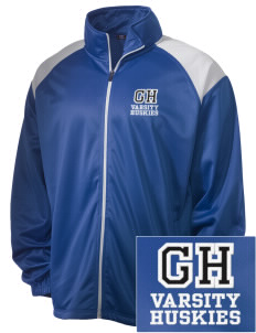 Gregory Heights Elementary School Huskies Embroidered Men's Tricot Track Jacket