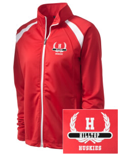 Hilltop Elementary School Huskies Embroidered Women's Tricot Track Jacket