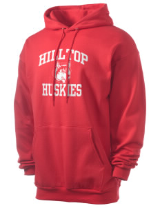 Hilltop Elementary School Huskies Men's 7.8 oz Lightweight Hooded Sweatshirt