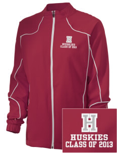 Hilltop Elementary School Huskies Embroidered Russell Women's Full Zip Jacket