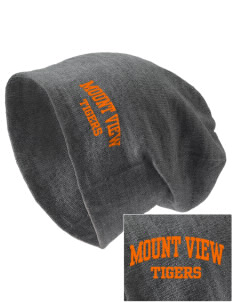 Mount View Elementary School Tigers Embroidered Slouch Beanie
