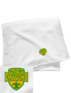 Valley View Elementary School Dragons Embroidered Beach Towel