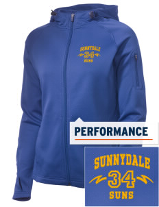 Sunnydale Elementary School Suns Embroidered Women's Tech Fleece Full-Zip Hooded Jacket