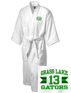Grass Lake Elementary School Gators Embroidered Terry Velour Robe