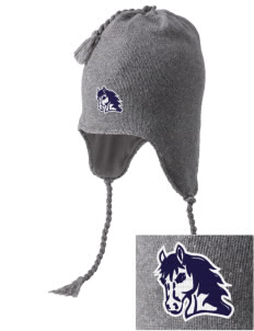 Bryn Mawr Elementary School Mustangs Embroidered Knit Hat with Earflaps