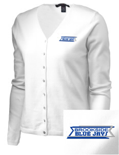 Brookside Elementary School Blue Jays Embroidered Women's Stretch Cardigan Sweater